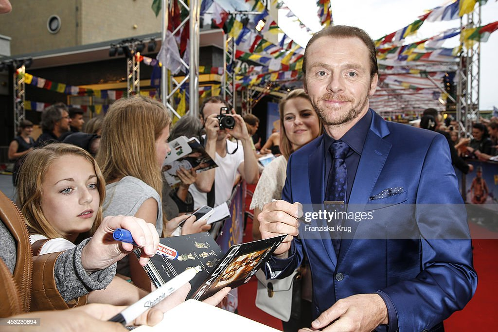 <a gi-track='captionPersonalityLinkClicked' href=/galleries/search?phrase=Simon+Pegg&family=editorial&specificpeople=206280 ng-click='$event.stopPropagation()'>Simon Pegg</a> attends the premiere of the film 'Hector and the Search for Happiness' (German title: 'Hectors Reise') at Zoo Palast on August 05, 2014 in Berlin, Germany.