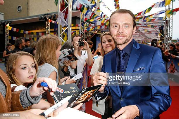 Simon Pegg attends the premiere of the film 'Hector and the Search for Happiness' at Zoo Palast on August 05 2014 in Berlin Germany