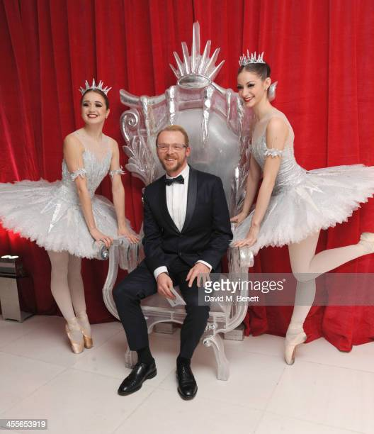 Simon Pegg attends the preparty for the English National Ballet's The Nutcracker at St Martin's Lane Hotel on December 12 2013 in London England