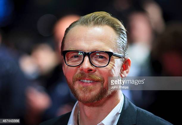 Simon Pegg attends the red carpet arrivals of 'Kill Me Three Times' during the 58th BFI London Film Festival at Odeon West End on October 18 2014 in...