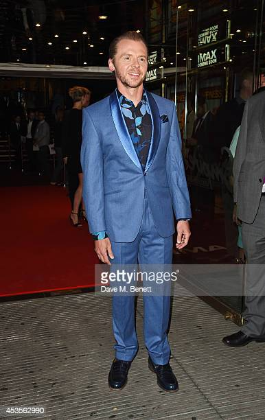 Simon Pegg attends the UK Premiere of 'Hector And The Search For Happiness' at Empire Leicester Square on August 13 2014 in London England