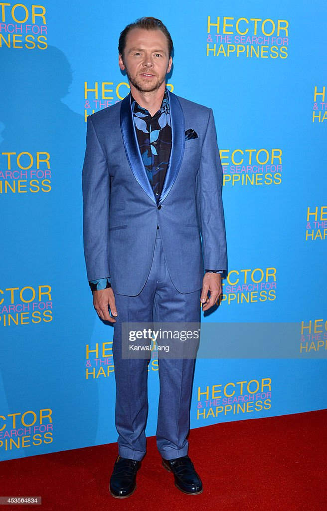 Simon Pegg attends the UK Premiere of 'Hector And The Search For Happiness' at Empire Leicester Square on August 13, 2014 in London, England.