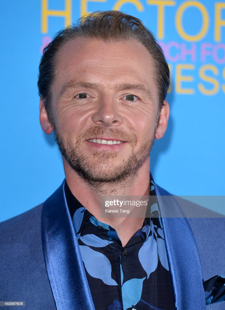<a gi-track='captionPersonalityLinkClicked' href=/galleries/search?phrase=Simon+Pegg&family=editorial&specificpeople=206280 ng-click='$event.stopPropagation()'>Simon Pegg</a> attends the UK Premiere of 'Hector And The Search For Happiness' at Empire Leicester Square on August 13, 2014 in London, England.