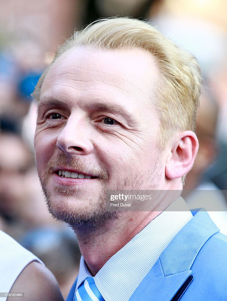 <a gi-track='captionPersonalityLinkClicked' href=/galleries/search?phrase=Simon+Pegg&family=editorial&specificpeople=206280 ng-click='$event.stopPropagation()'>Simon Pegg</a> attends the World film Premiere of 'The World's End' at The Empire Cinema on July 10, 2013 in London, England.
