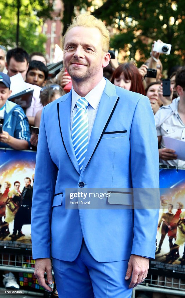 Simon Pegg attends the World film Premiere of 'The World's End' at The Empire Cinema on July 10, 2013 in London, England.