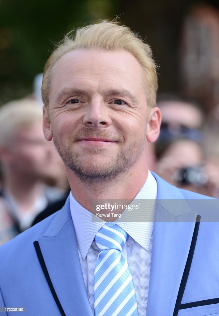 Simon Pegg attends the World Premiere of 'The World's End' at Empire Leicester Square on July 10, 2013 in London, England.