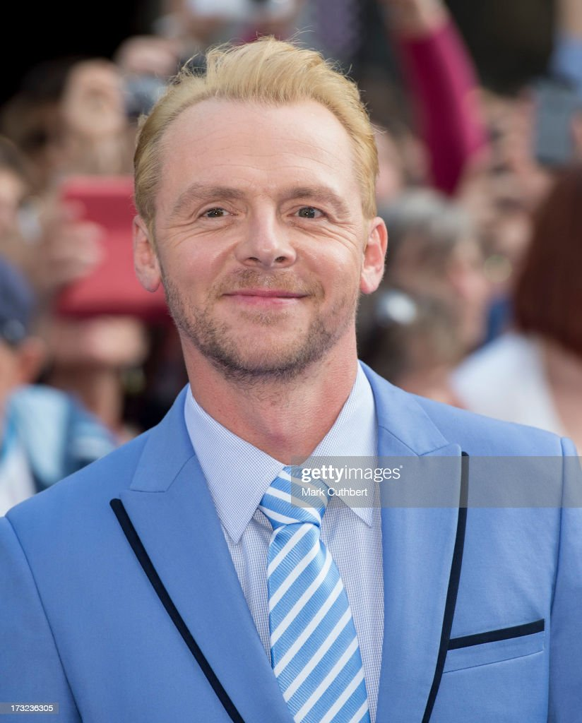 <a gi-track='captionPersonalityLinkClicked' href=/galleries/search?phrase=Simon+Pegg&family=editorial&specificpeople=206280 ng-click='$event.stopPropagation()'>Simon Pegg</a> attends the World Premiere of 'The World's End' at Empire Leicester Square on July 10, 2013 in London, England.
