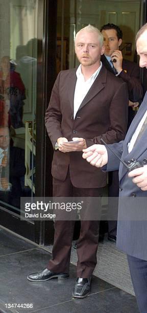 Simon Pegg during 49th Ivor Novello Awards Arrivals at Grosvenor House Hotel in London