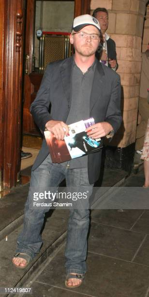 Simon Pegg during Derren Brown Live Press Night at Palace Theatre in London Great Britain