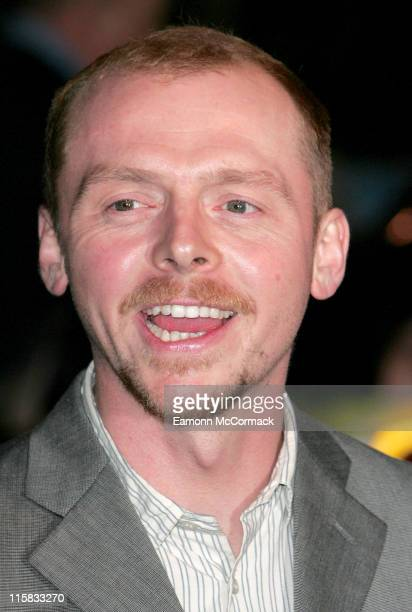 Simon Pegg during 'Hot Fuzz' London Premiere Outside Arrivals at Vue West End in London Great Britain