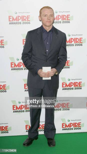 Simon Pegg during Sony Ericsson Empire Film Awards 2006 Inside Arrivals at Hilton London Metropole in London Great Britain