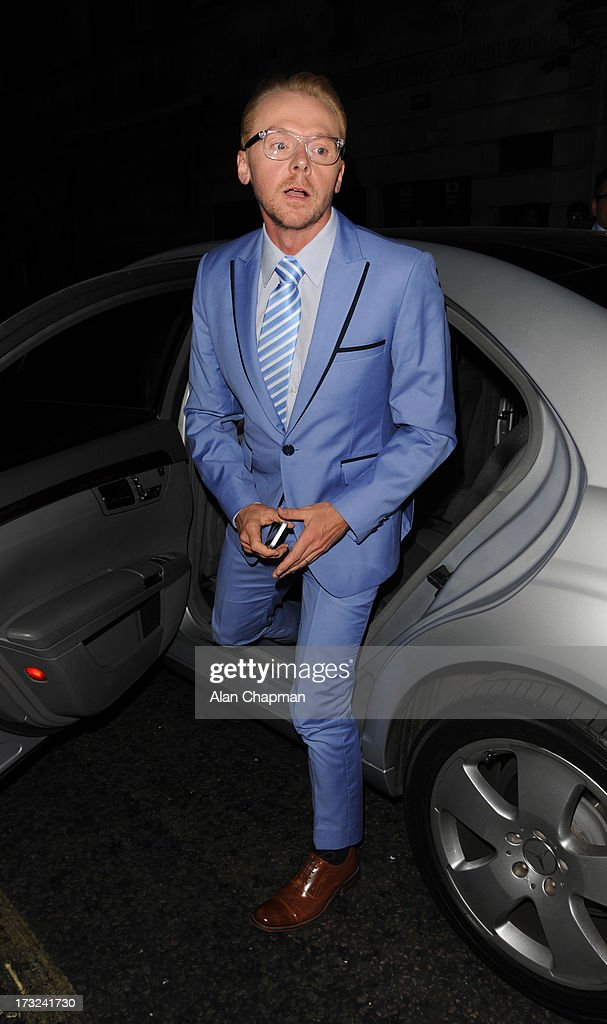 <a gi-track='captionPersonalityLinkClicked' href=/galleries/search?phrase=Simon+Pegg&family=editorial&specificpeople=206280 ng-click='$event.stopPropagation()'>Simon Pegg</a> sighting at the World's End after party at DSTRKT on July 10, 2013 in London, England.
