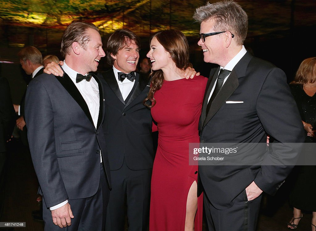 <a gi-track='captionPersonalityLinkClicked' href=/galleries/search?phrase=Simon+Pegg&family=editorial&specificpeople=206280 ng-click='$event.stopPropagation()'>Simon Pegg</a>, <a gi-track='captionPersonalityLinkClicked' href=/galleries/search?phrase=Tom+Cruise&family=editorial&specificpeople=156405 ng-click='$event.stopPropagation()'>Tom Cruise</a>, <a gi-track='captionPersonalityLinkClicked' href=/galleries/search?phrase=Rebecca+Ferguson+-+Actress&family=editorial&specificpeople=12319575 ng-click='$event.stopPropagation()'>Rebecca Ferguson</a> and Director <a gi-track='captionPersonalityLinkClicked' href=/galleries/search?phrase=Christopher+McQuarrie&family=editorial&specificpeople=2784110 ng-click='$event.stopPropagation()'>Christopher McQuarrie</a> attend the afterparty for the world premiere of 'Mission: Impossible - Rogue Nation' at Sofitel Hotel Vienna on July 23, 2015 in Vienna, Austria.