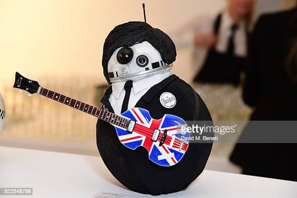 Simon Pegg's Design at the Star Wars The Force Awakens BB8 GREAT Exhibition and Auction in aid of Great Ormond Street Hospital Children's Charity on...