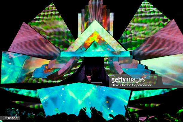 Simon Posford performs during Shpongle presents The Masquerade at The Orange Peel on April 14 2012 in Asheville North Carolina