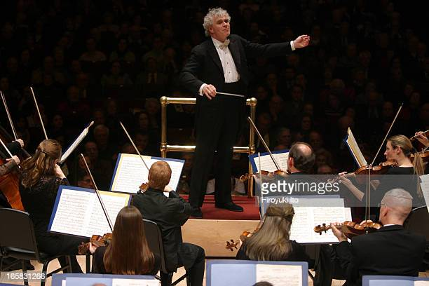 Simon Rattle leading the Philadelphia Orchestra at Carnegie Hall on Tuesday night February 7 2006This imageSimon Rattle conducting the Philadelphia...