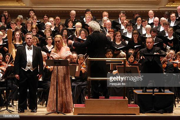 Simon Rattle leading the Philadelphia Orchestra in Berlioz's 'La damnation de Faust' at Carnegie Hall on Friday night May 1 2009This imageFrom left...