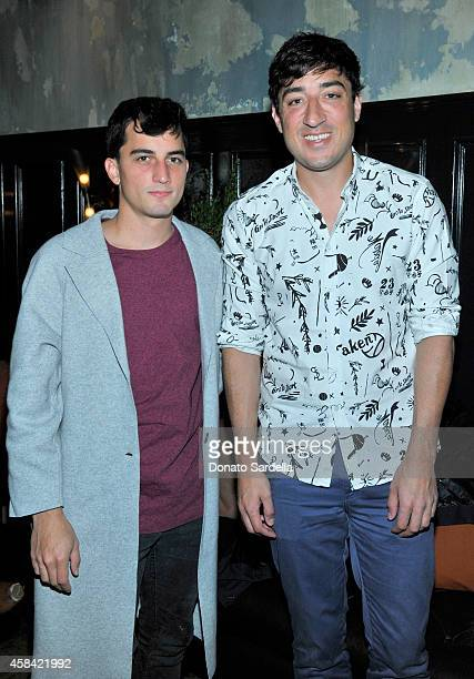 Simon Renggli and songwriter Ed Droste attend the private dinner to celebrate Scott Sternberg and 10 Years of Band of Outsiders hosted by Barneys New...