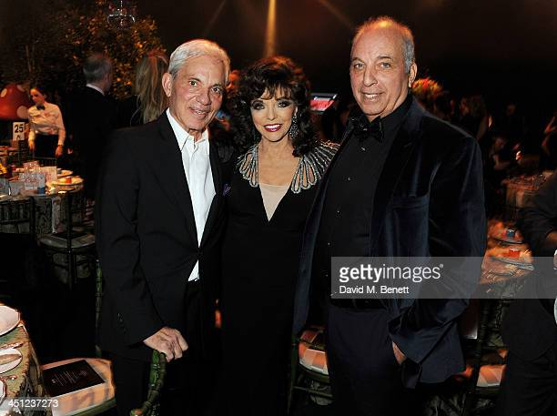Simon Reuben Joan Collins and David Reuben attend the Adventure in Wonderland Ball held by The Reuben Foundation in aid of Great Ormond Street...