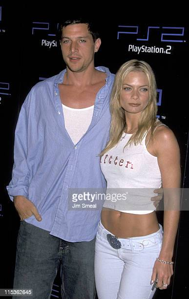 Simon Rex and Jaime Pressly during Party Hosted by Sony for Electronic Expo 3 Previewing PS2 Titles at Hollywood American Legion in Hollywood...