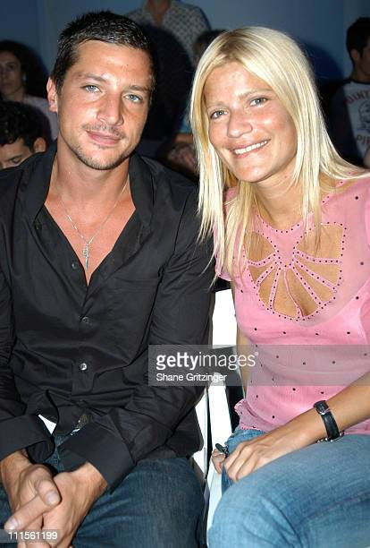 Simon Rex and Lizzie Grubman during Olympus Fashion Week Spring 2005 Esteban Cortazar Runway at Plaza Tent Bryant Park in New York City New York...