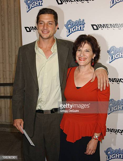 Simon Rex and mom Zoe during 'Scary Movie 3' Premiere Arrivals at AMC Theatres Avco Cinema in Westwood California United States