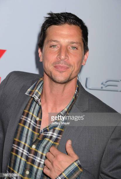 Simon Rex arrives at the 'Scary Movie V' Los Angeles Premiere at ArcLight Cinemas Cinerama Dome on April 11 2013 in Hollywood California