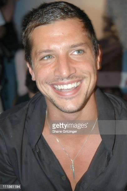 Simon Rex during Olympus Fashion Week Spring 2005 Esteban Cortazar Runway at Plaza Tent Bryant Park in New York City New York United States