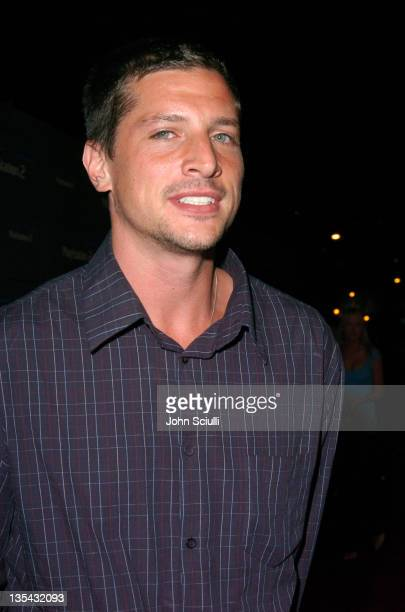 Simon Rex during Playstation 2 Offers A Passage Into 'The Underworld' Red Carpet at Blecsco Theater in Los Angeles California United States