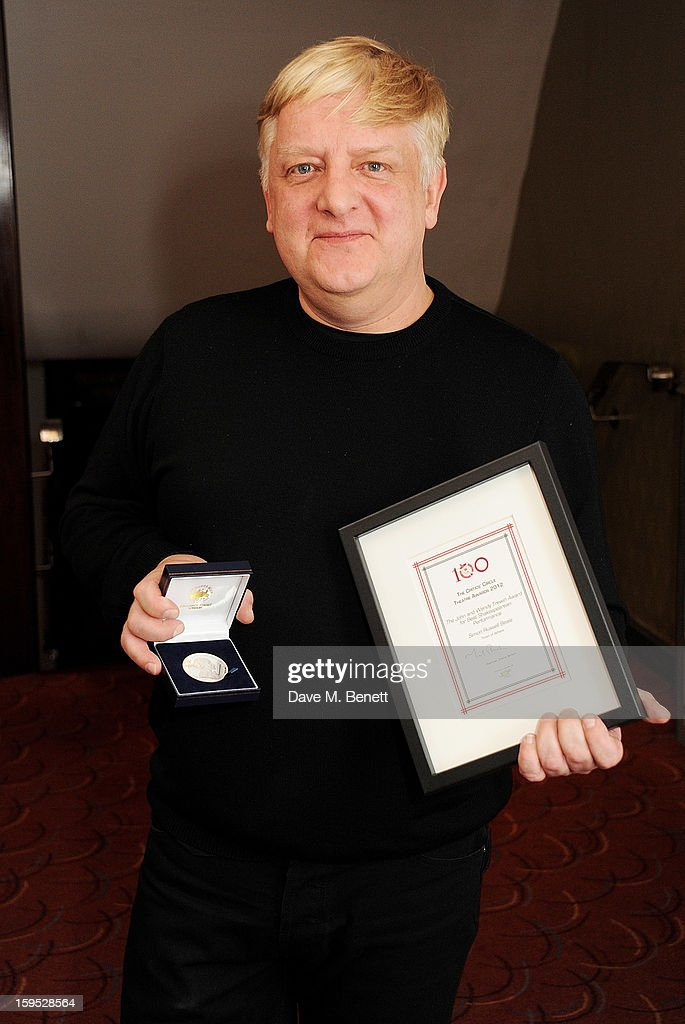 Simon Russell Beale, winner of the John and Wendy Trewin Award for best Shakespearean Performance, attends the 2013 Critics' Circle Theatre Awards at the Prince Of Wales Theatre on January 15, 2013 in London, England.