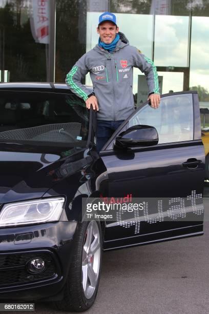 Simon Schempp looks on during the DSV German Ski Association clothing at on October 20 2016 in Neuburg Germany