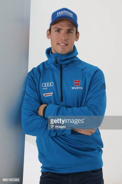 Simon Schempp looks on during the DSV German Ski Association clothing on October 20 2016 in Neuburg Germany
