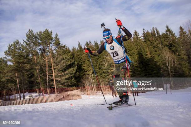Simon Schempp of Germany competes during the 125 km men's Pursuit on March 17 2017 in Oslo Norway