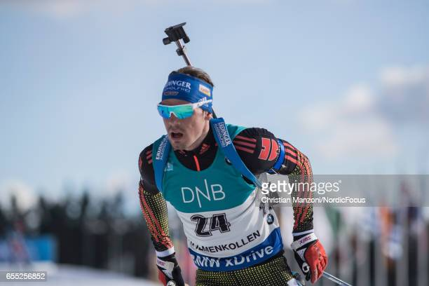 Simon Schempp of Germany competes during the 15 km men's Mass Start on March 18 2017 in Oslo Norway