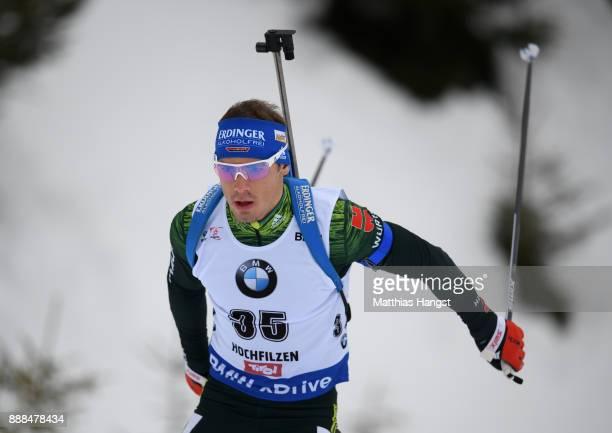 Simon Schempp of Germany competes in the 10 km Men's Sprint during the BMW IBU World Cup Biathlon on December 8 2017 in Hochfilzen Austria