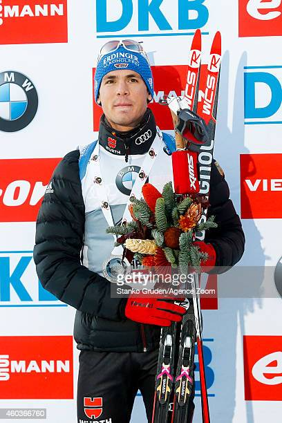 Simon Schempp of Germany takes 2nd palce during the IBU Biathlon World Cup Men's and Women's Sprint on December 12 2014 in Hochfilzen Austria