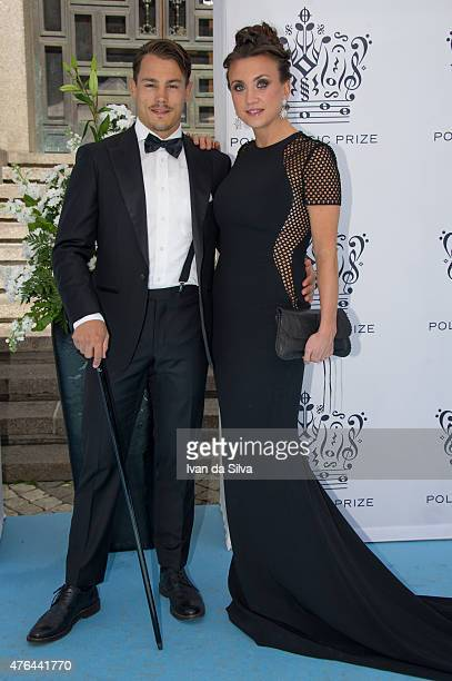 Simon Skold and Camilla Lackberg attend Polar Music Prize at Stockholm Concert Hall on June 9 2015 in Stockholm Sweden