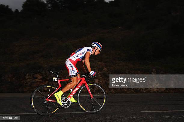 Simon Spilak of Slovenia and Team Katusha in action on stage seven of the 2015 ParisNice from Nice to Col d'Eze on March 15 2015 in Nice France