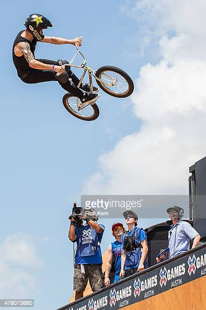 Simon Tabron participates in BMX Vert Final during X Games Austin at Circuit of The Americas on June 5 2015 in Austin Texas