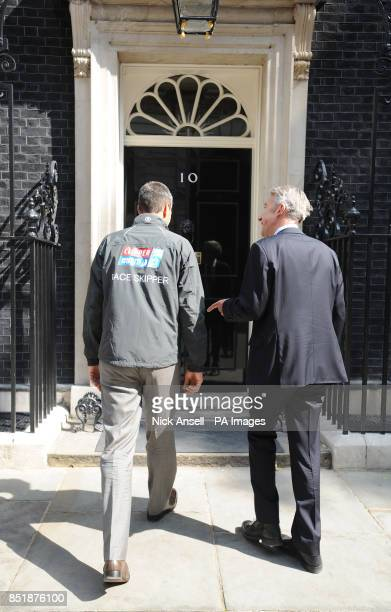 Simon Talbot outside Downing Street with Conrad Bird GREAT Campaign Director London born professional skipper Simon Talbot will lead an amateur crew...
