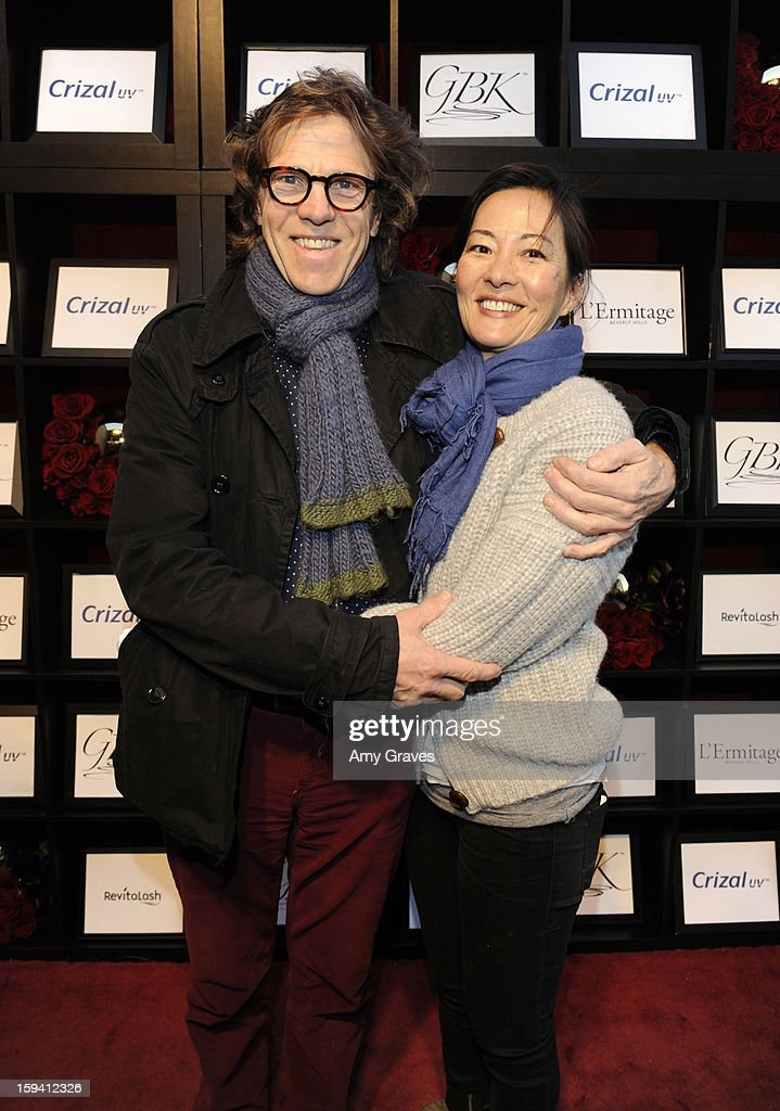 Simon Templeman and Rosalyn Chao attend GBK's Luxury Lounge During Golden Globe Weekend Day 2 at L'Ermitage Beverly Hills Hotel on January 12, 2013 in Beverly Hills, California.