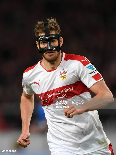 Simon Terodde of Stuttgart in action during the Second Bundesliga match between VfB Stuttgart and VfL Bochum at MercedesBenz Arena on March 10 2017...