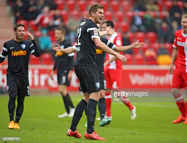 Simon Terodde of VFL Bochum gestures during the game between Union Berlin and VfL Bochum on january 7 2015 in Berlin Germany