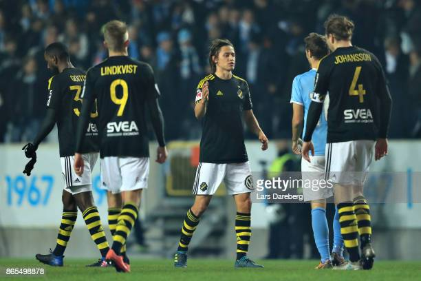 Simon Thern of AIK during the allsvenskan match between Malmo FF and AIK at Swedbank Stadion on October 23 2017 in Malmo Sweden