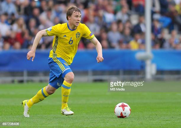 Simon Tibbling during the UEFA European Under21 match between Sweden and England at Kolporter Arena on June 16 2017 in Kielce Poland