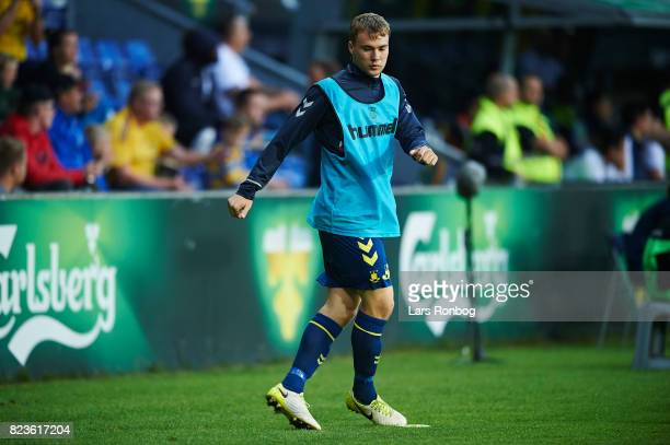 Simon Tibbling of Brondby IF warming up during the UEFA Europa League Qual match between Brondby IF and Hajduk Split at Brondby Stadion on July 27...