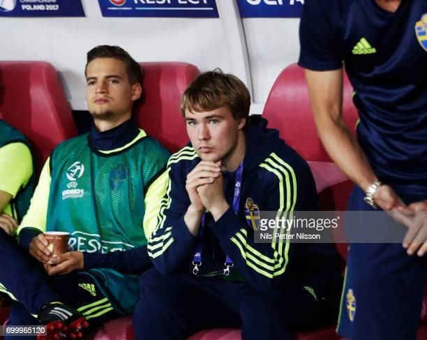 Simon Tibbling of Sweden during the UEFA European Under21 match between Slovakia and Sweden at Arena Lublin on June 22 2017 in Lublin Poland