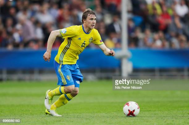 Simon Tibbling of Sweden during the UEFA European Under21 Championship match between Sweden and England at Arena Kielce on June 16 2017 in Kielce...