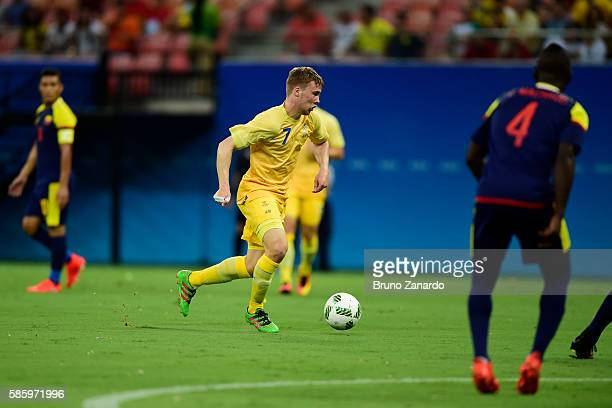 Simon Tibbling player of Sweden in action during 2016 Summer Olympics match between Colombia and Sweden at Arena da Amazonia at Arena Amazonia on...