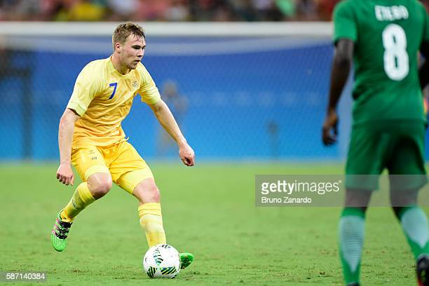 Simon Tibbling player of Sweden in action during 2016 Summer Olympics match between Sweden and Nigeria at Arena Amazonia on August 7 2016 in Manaus...